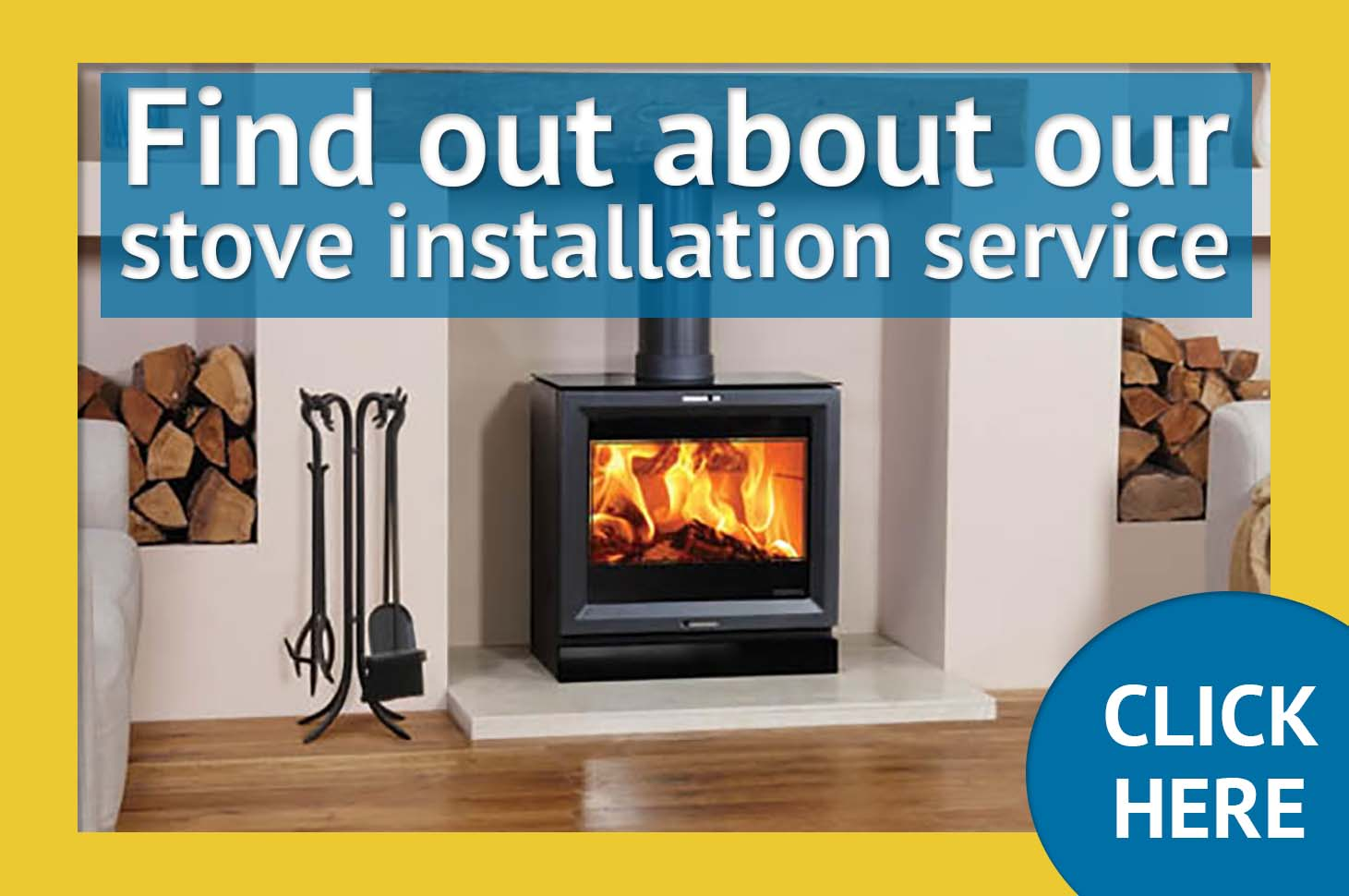Wood burning stove installation Shropshire, West Midlands UK