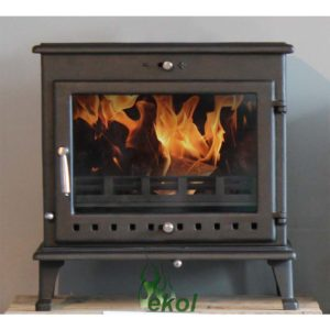 Ekol Crystal 12 woodburning stove in situ