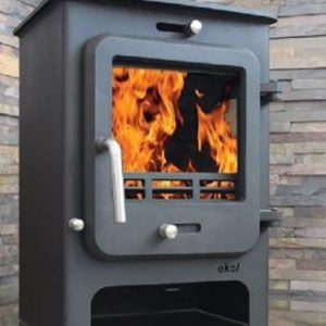 Ekol Clarity 5 low leg multifuel woodburning stove
