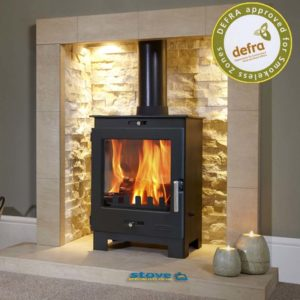 Flavel Arundel multi-fuel wood burning stove 4.9kW