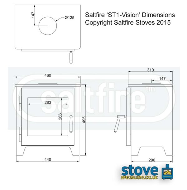 saltfire-st1-vision-wood-burning-stove-dimensions