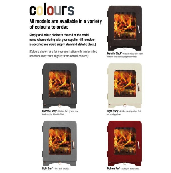 Saltfire ST3 woodburning stove colours
