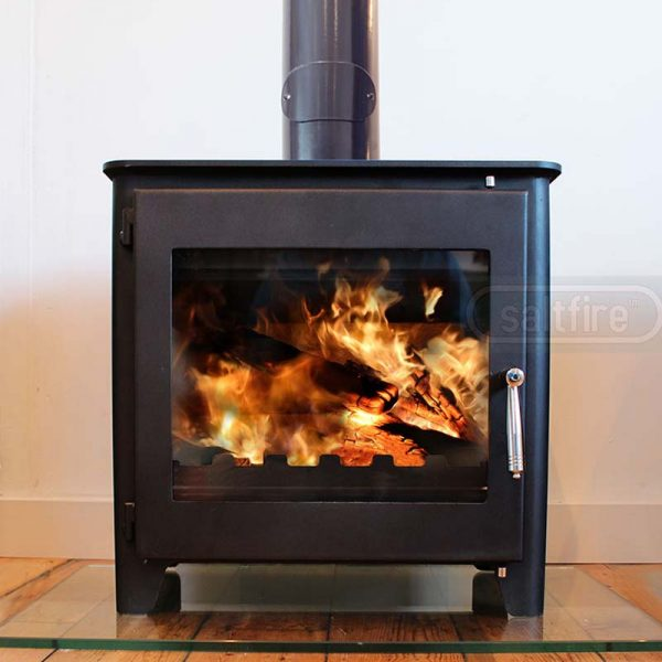 Saltfire ST3 woodburning stove full view